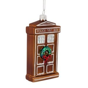 Doctor Who Glass TARDIS Christmas Ornament